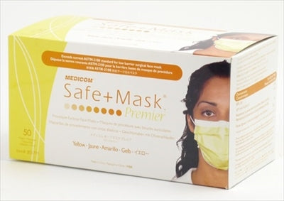 Safe Mask Premier Yellow [AR Medicom] [Mask] 1 case 10 pieces