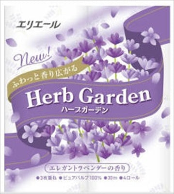 elleair Herb Garden Lavender 4R 3 layers [Daio Paper] [Toilet paper] 1 case 12 pieces