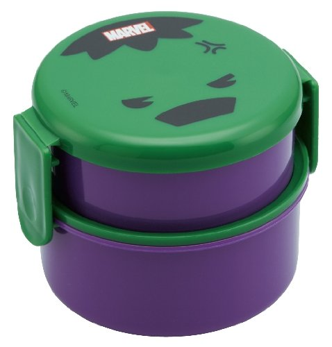 Round Lunch Box with Fork Hulk [Lunch Box