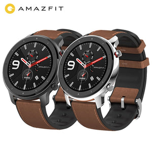 Digital Smart Watch for a Smart World! Amazfit GTR 47mm, reloj inteligente para hombre y mujer, GPS integrado. Sumergible hasta 5ATM, impermeable. Hasta 24 días de batería. Compatible con IOS y Android.