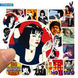 50Pcs Classic Movie Pulp Fiction Poster Stickers