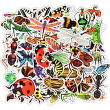 50PCS Nature Insect Stickers