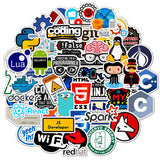50Pcs Programming Stickers