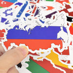 50Pcs National Flags Stickers