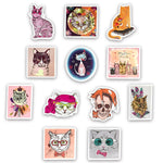 50Pcs Cartoon Cat Stickers