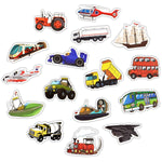 50PCS Engineering Vehicle Stickers