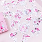 45Pcs Pink Flamingo Stickers