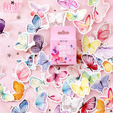 45Pcs Lovely Butterfly Stickers