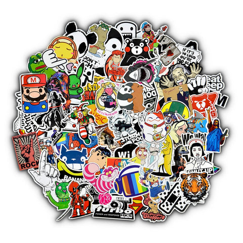 50Pcs Mixed Cartoon Stickers