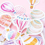 45Pcs Hot Air Balloon Diary Stickers