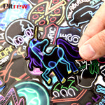 50Pcs Neon Light Stickers