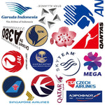 52Pcs Airline Stickers