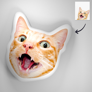 Custom Cat Face-Made 3D Portrait Throw Pillows