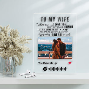 TO MY WIFE - Personalized Spotify Code Music Plaque(4.7in x 6.3in)