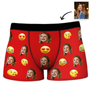 Custom Emoji and Photo Boxer Shorts for Men