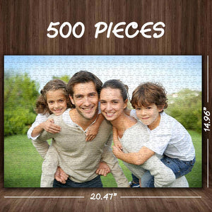 Stay Inside Gifts Personalized Your Photo Jigsaw Puzzle Best Custom Gifts- 35-1000 pieces Puzzles for Adults