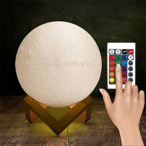 Remote Control 16 Colors - Engraved Moon Lamp