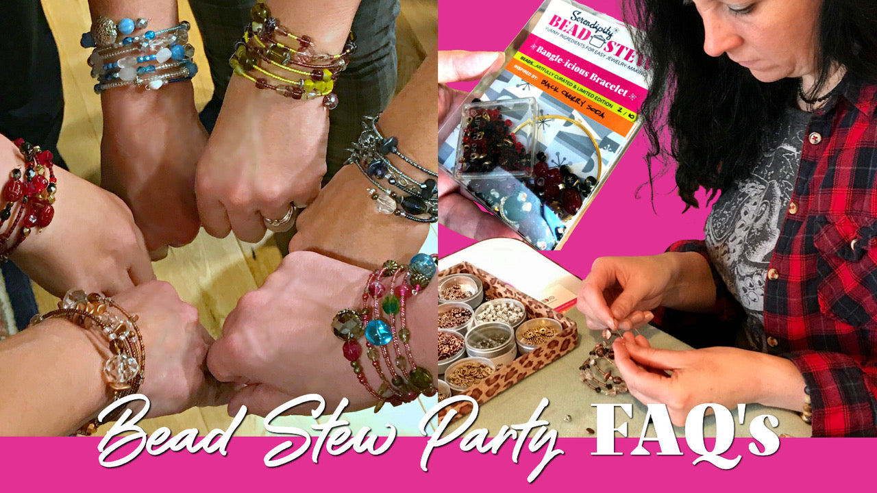 Suzie Q Studio BEAD STEW Jewelry-Making Parties make the perfect get-together for any occasion! Whether you choose to have a theme for your bracelet-making party or not, you'll create a one-of-a-kind bangle-style bracelet that will be a reminder of the wonderful time you shared together.
