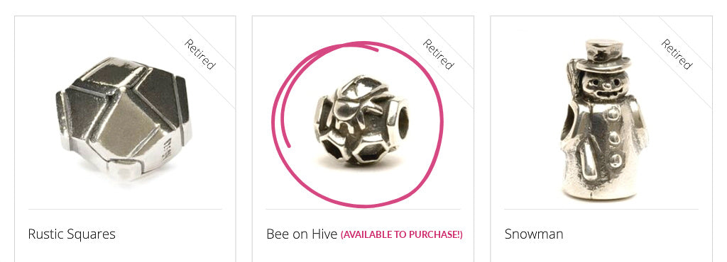 """Since Trollbeads inception in 1976, and it grew from one bead to the amazing collection of today, Svend Nielsen designed 90 Trollbeads, including the three beads shown above, including """"BEE ON HIVE"""" which was retired in 2010, but is available TO BUY in Suzie Q's Rare & Retired Collection. However, there's only one of these sweet treasures available and it's pretty rare, so get it while you can!"""