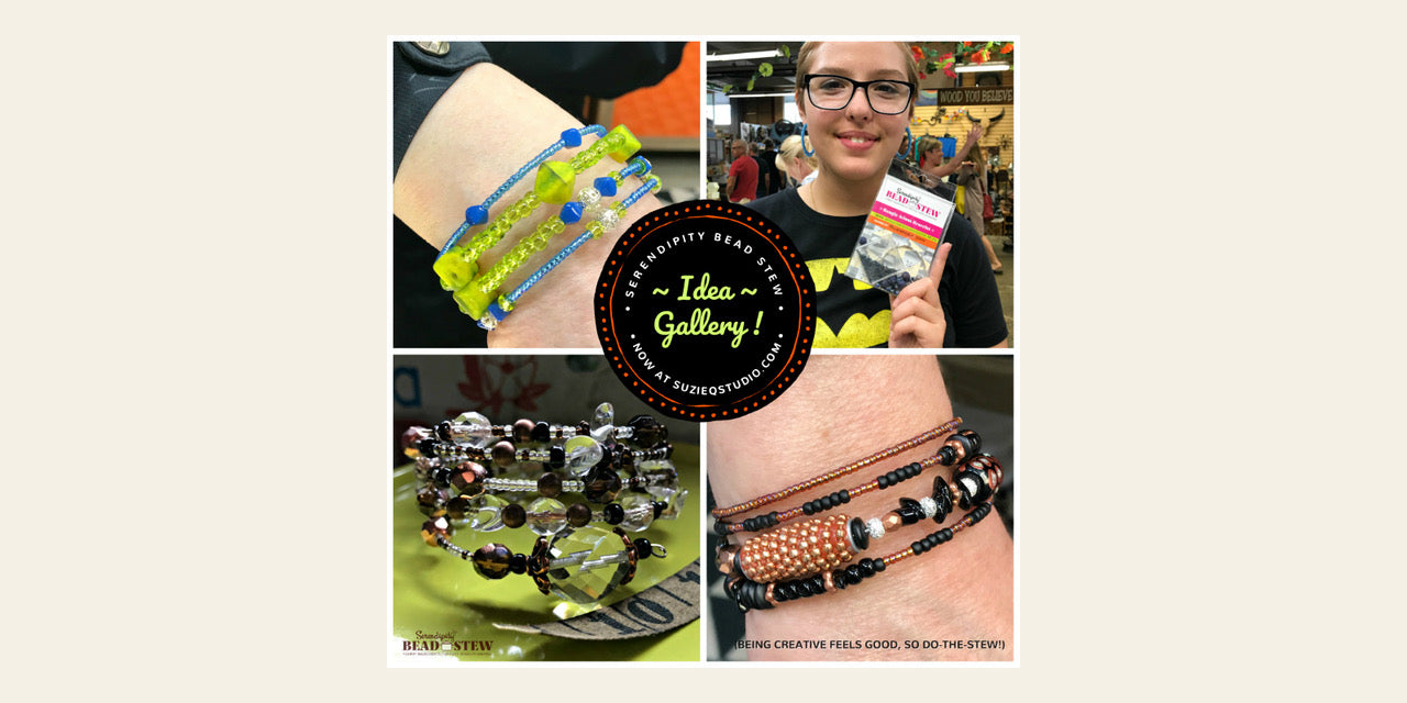 "Since launching our unique bracelet kits: ""Serendipity BEAD STEW… Yummy Ingredients For Easy Jewelry-Making"" in April 2019, oodles of awesome BEAD STEW bangle-style bracelets have been created and quite a few of them appear in our BEAD STEW Idea Gallery, so Take-A-Look by clicking on the button below"