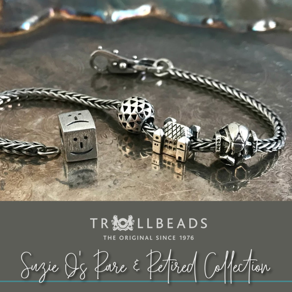 """If you love Trollbeads and covet unusual and rare pieces, then be sure to check out Suzie Q Studio's Rare and Retired Trollbeads Collection. There are oodles of glass and sterling silver choices, with Trollbeads """"Fancies"""", """"Limited Editions"""" and """"Ultra-Rare"""" pieces being added soon."""