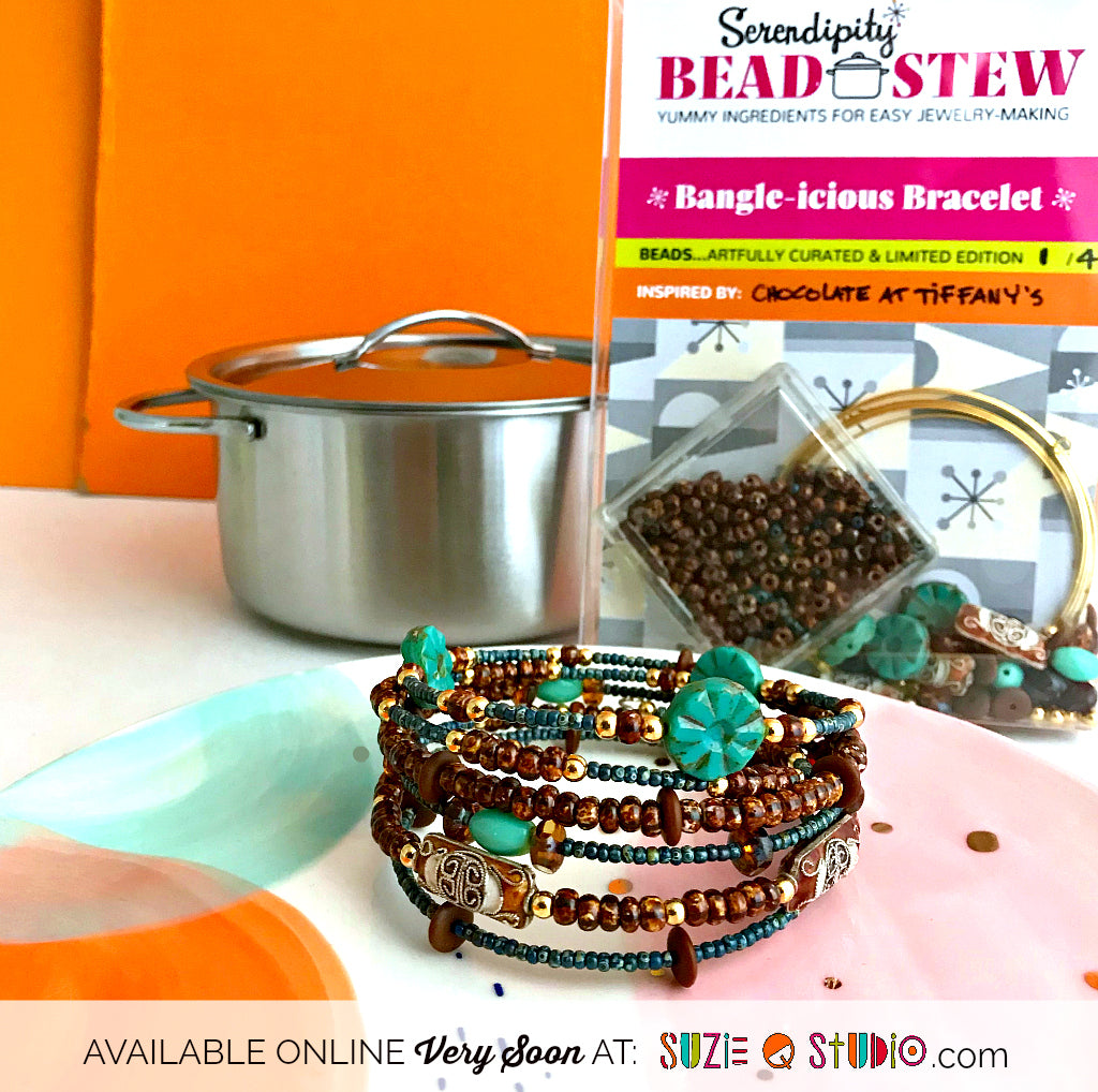 Suzie Q Studio's storefront is closing July 30, 2019 -- but don't worry! We'll still be with you online and will be doing lots of new things with our Serendipity Bead Stew DIY jewelry kits such as jewelry-making parties, kids' jewelry kits, party-in-a-box kits to order, plus Suzie will be taking to the road to bring her Serendipity Bead Stew kits to you. Visit our website or subscribe to our eNewsletter to get all the latest news.