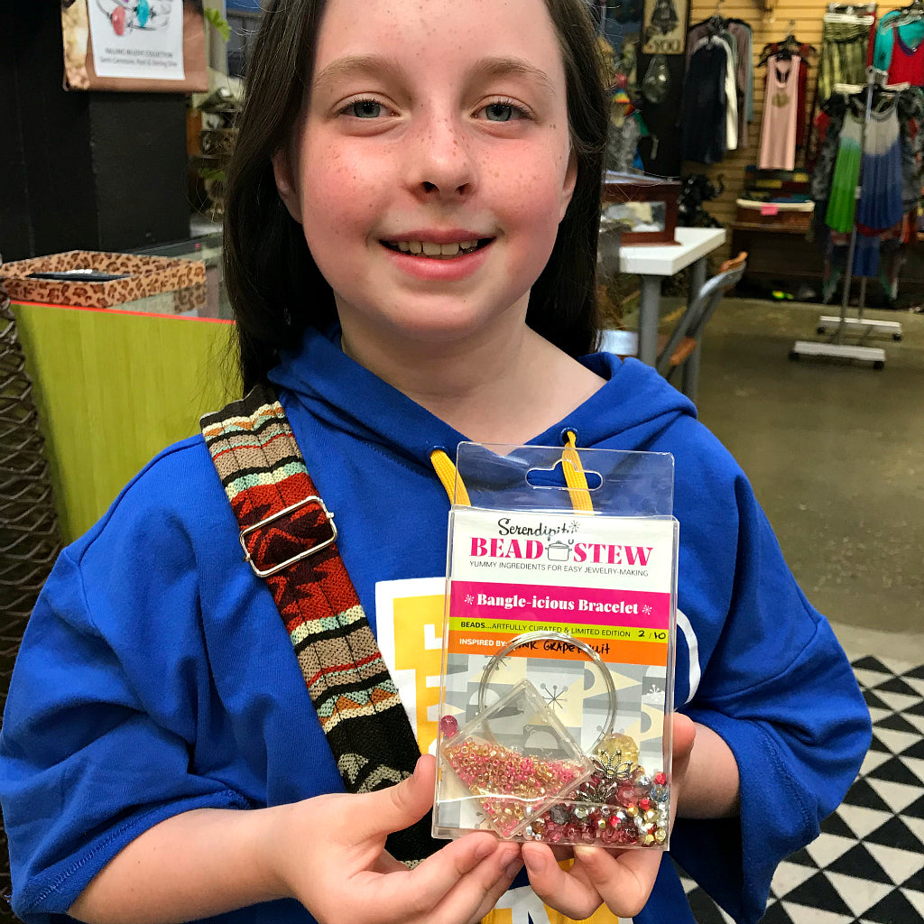 Suzie Q Studio will be offering Serendipity Bead Stew Kits for Kids. Visit our website often for lots more information.