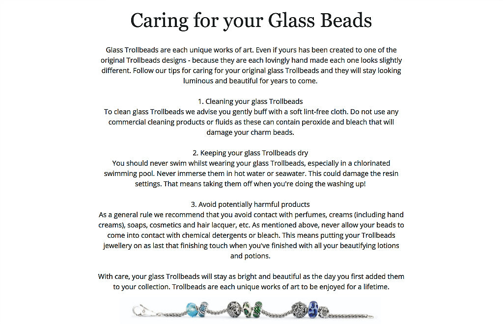 Jewelry care guide from Suzie Q Studio, Calgary's unique jewelry store at the Crossroads Market. Suzie tells you how to care for your glass beads, and fine copper and silver jewelry.