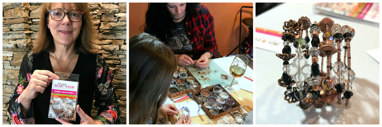 """Suzie Q Studio's BEAD STEW Jewelry-Making Parties give you endless ways to celebrate all sorts of occasions, from casual Gal-Pal Gatherings to Birthdays for """"Grown-Ups"""" to Team-Building Events and much more!"""