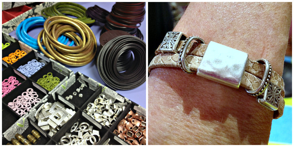 "SUZIE Q STUDIO is Celebrating 16 successful years in Calgary with a ""*50% OFF BEAD SALE, PLUS a FREE GIFT for YOU! This is the last weekend (Sept 14-16/18) of our sale... ""Leather Cuff-Stuff""50% OFF... flat & oval leather + sliders & clasps to create  easy-to-make, leather cuffs for Guys & Gals. See you at the Q."