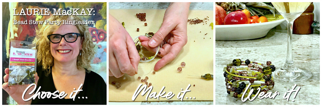Suzie Q Studio's BEAD STEW Jewelry-Making Parties are open to almost anyone!*…Family members, friends, co-workers… Even guys are invited to participate to create a bracelet for a spouse, girlfriend or daughter.