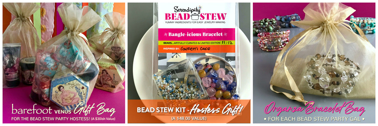 """As a """"Thank You"""" for organizing your Suzie Q STudio BEAD STEW Party, you'll receive the GIFT of an additional BEAD STEW Kit (a $48 Value) to either keep for yourself or use as a """"Gift Draw"""" for the Gal-Pals at your event."""