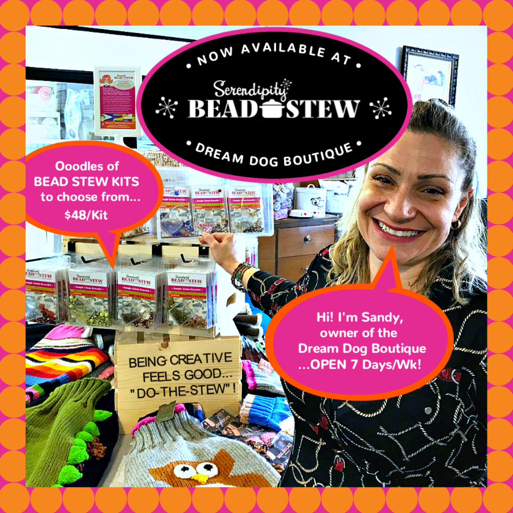 Just in time for Christmas, the Dream Dog Boutique in Calgary is now stocking a wonderful selection of Suzie Q Studio's Serendipity BEAD STEW Bracelet-Making Kits.