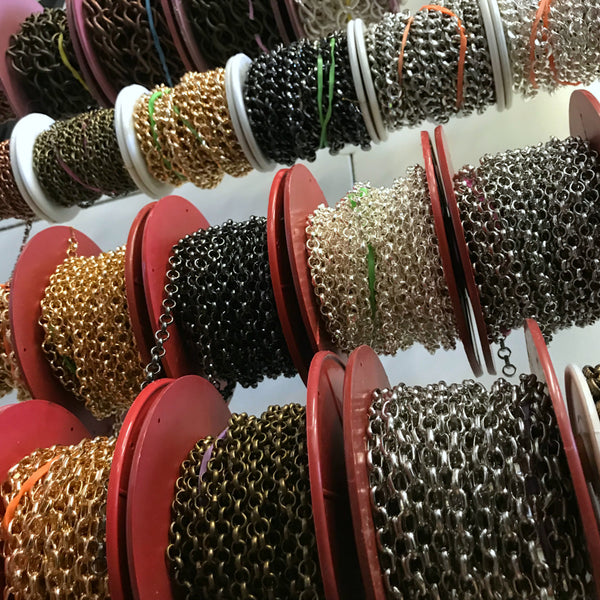Suzie Q Studio at the Crossroads Market in Calgary has Chain Galore and all your other jewelry-making supplies!