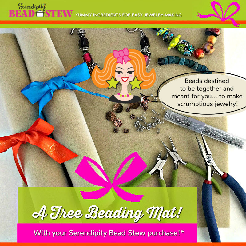 The bead combos with Suzie Q Studio's ​Serendipity BEAD STEW Kits​ a​re so yummy-looking,​ ​why not pick up​ ​TWO KITS for some fun​ ​​Mother-Daughter Creative Time? Plus get a FREE Bead Mat (while quantities last) with your BEAD STEW purchase.