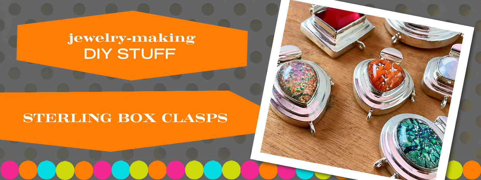 Clasps are what hold a piece of jewelry together and can be an integral component elevating your jewelry piece into wearable art. Suzie Q Studio has an amazing collection of beautiful box clasps that can be the centrepiece of your DIY jewelry project.