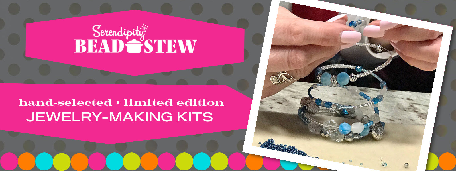 In addition to making a bangle-style bracelet with your Suzie Q Studio BEAD STEW DIY Jewelry making kit, you can also make a face mask chain which later converts to a bracelet or necklace. No experience needed.