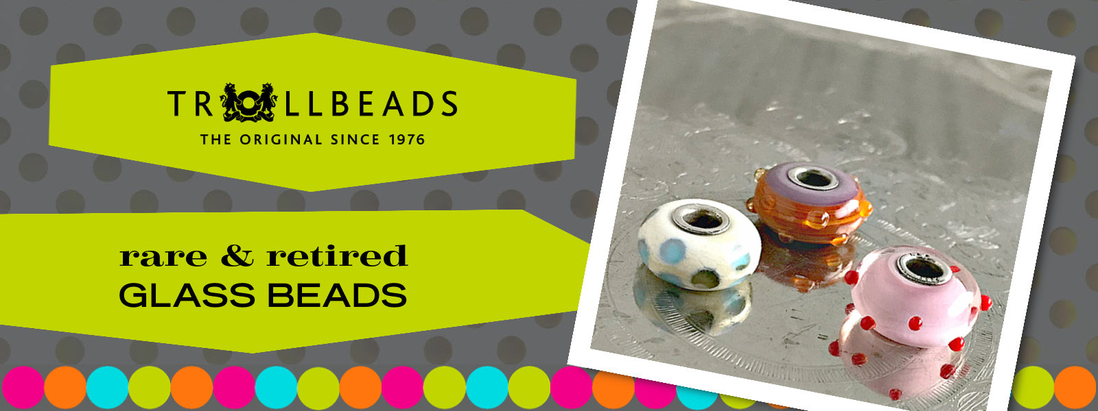 Suzie Q Studio has a treasure vault full of Rare and Retired Trollbeads... and we're making them available to you. Luscious Trollbeads glass beads are handmade of Italian glass and each one is unique.