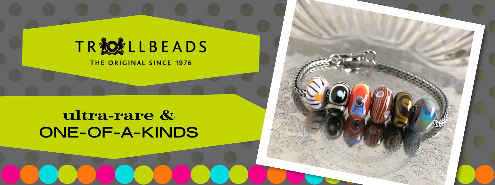"""Suzie Q Studio has stashed away rare and retired special glass, sterling silver and limited edition Trollbeads pieces in the Suzie Q Studio """"Troll Treasures Vault"""". This Trollbeads Ultra-Rare & One-of-a-Kinds Collection features some rare beauties."""