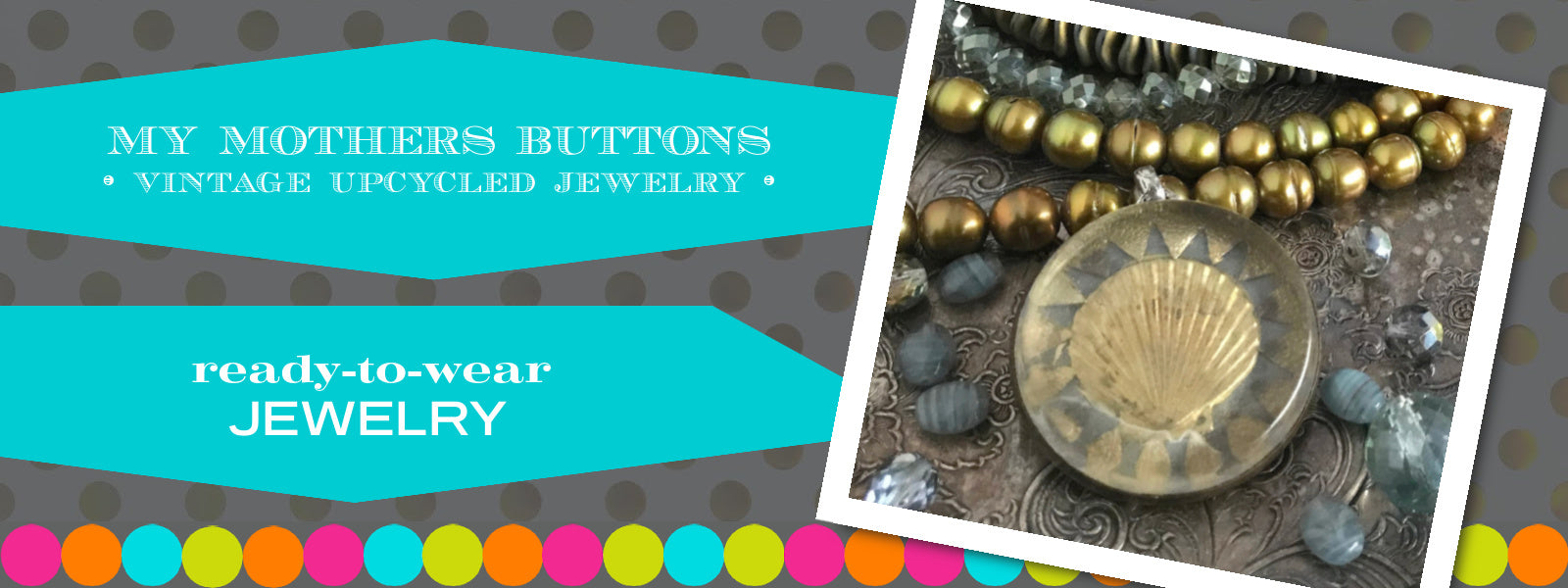 The creators of My Mothers Buttons jewelry transform the finest antique buttons and other circa 1800's treasures from all over Europe to create one-of-a-kind heirloom jewelry. Suzie Q Studio is thrilled to share this wonderful jewelry line with you.