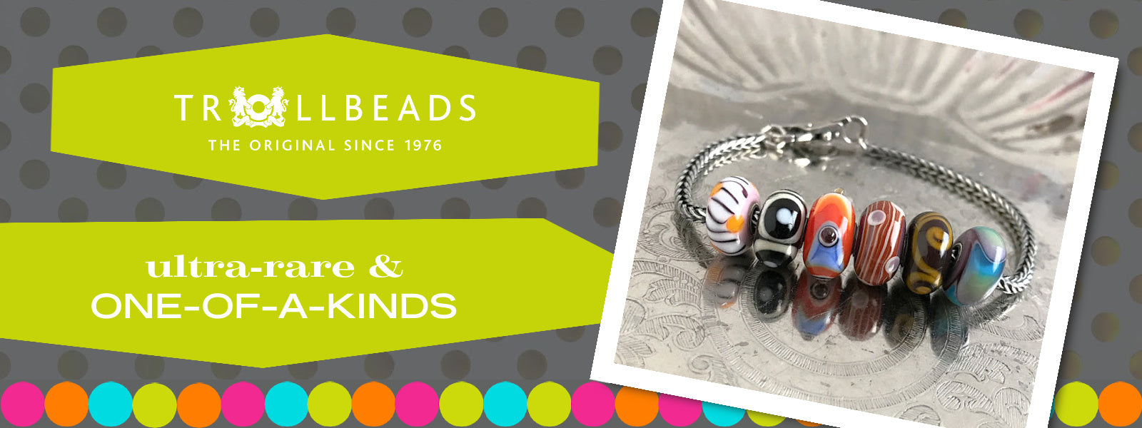 """Suzie Q Studio has stashed away rare and retired special glass, sterling silver and limited edition Trollbeads pieces in the Suzie Q Studio """"Trollbeads Treasure Vault"""". This Trollbeads Ultra-Rare & One-of-a-Kinds Collection features some rare beauties."""