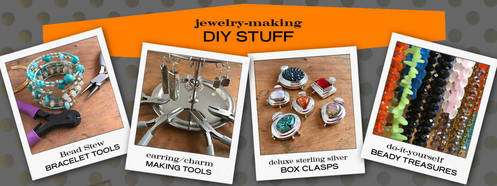 Suzie Q Studio is the home of unique Jewelry Making Supplies for all your DIY Jewelry Making Projects... gorgeous sterling silver box clasps, jewelry-making tools, beautiful bead treasures and cool components.