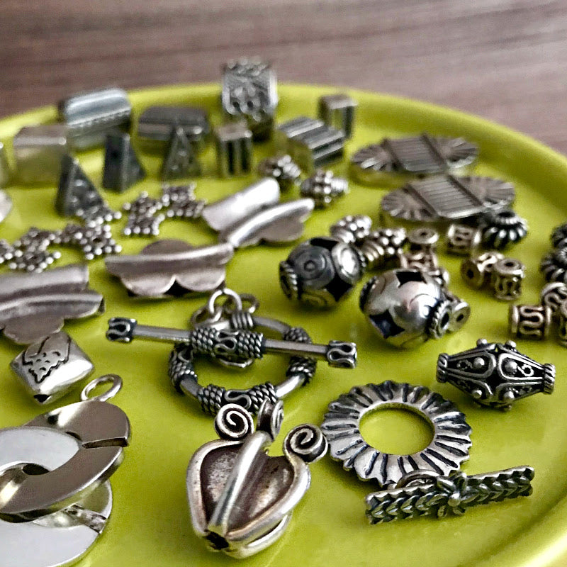 The toggle-style clasps shown in this image, along with more styles, are all available at 50% OFF at Suzie Q Studio.