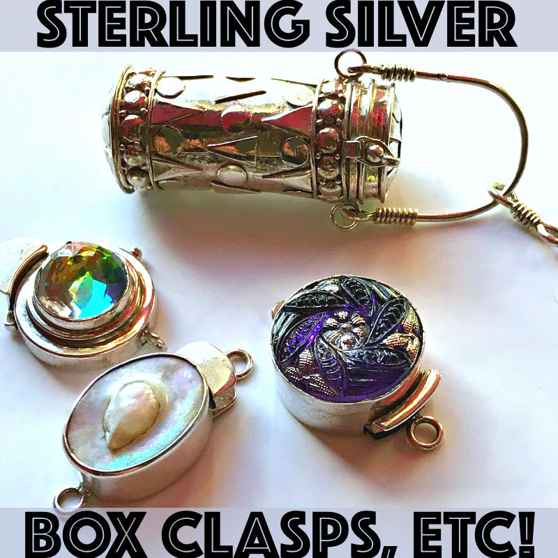 Sterling Silver toggle-style clasps are available at Suzie Q Studio at the Crossroads Market until July 28, 2019.