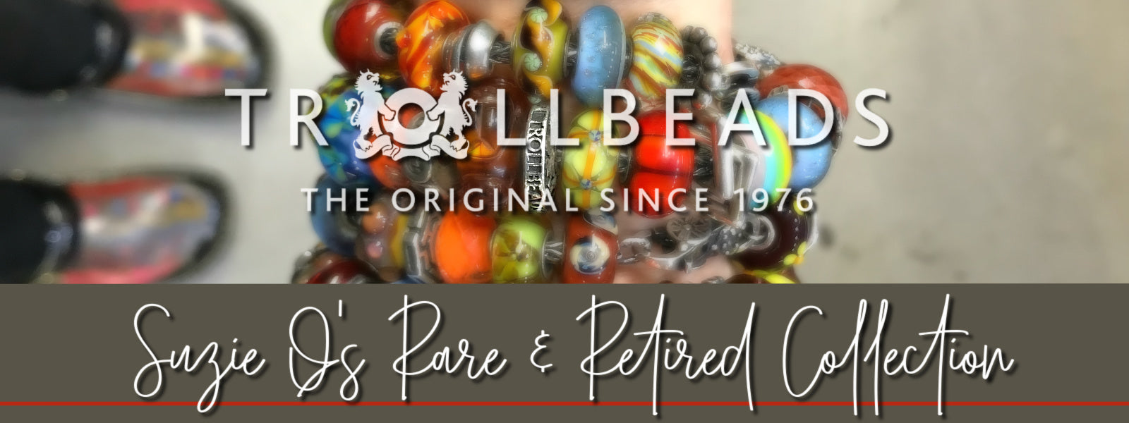 Glass and sterling silver rare and retired Trollbeads are available to purchase now at Suzie Q Studio. Check back to see the rest of the Rare and Retired Trollbeads Collection, which will be launching very soon!