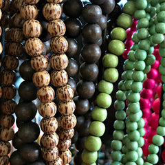 "Suzie Q Studio at the Crossroads Market in Calgary has Wonderful Wood Beads... great for ""mala-making"" plus all your other jewelry-making supplies too!"