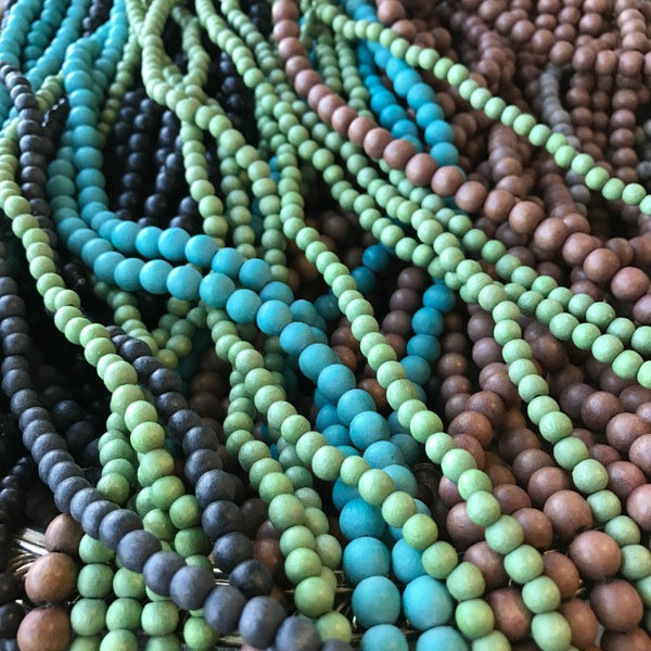 WOOD BEAD STRANDS ••• 50% OFF!!! •••