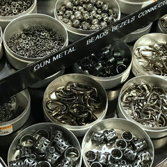 A TERRIFIC ARRAY OF METAL BEADS, CHARMS, ETC... • Gun Metal • Silver Plate • Antique Silver & Bronze • ••• 50% OFF!!! •••