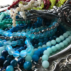 ALL PRECIOUS & SEMI-PRECIOUS STONE BEADS ••• 50% OFF!!! •••