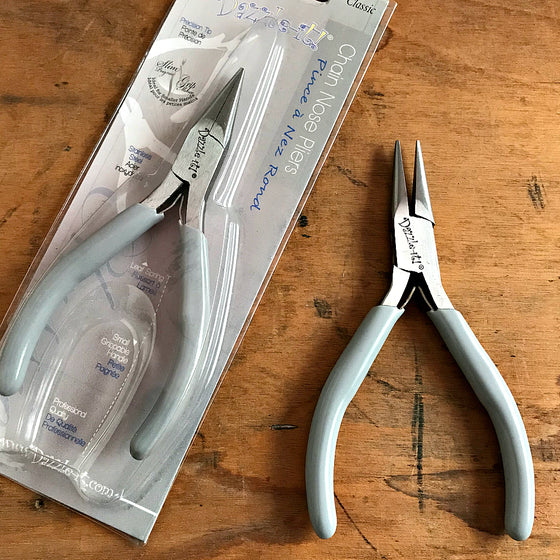 "When it comes to making jewelry, if you want professional looking results, using Suzie Q Studio's jewelry-making tools is the way to go! This ""Chain Nose Plier"" is ideal for griping, bending and reaching into tight places. It's smooth jaws make it perfect for the detailed work of jewelry making."